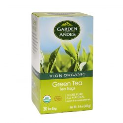 Box of Garden of the Andes Organic Green Tea (20 bags)