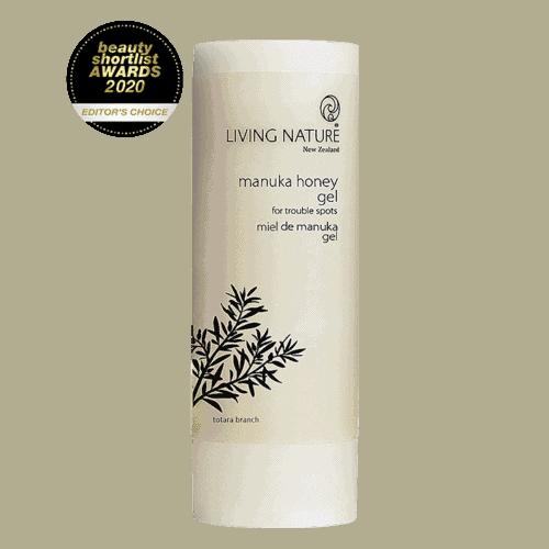 Bottle of Living Nature Organic Manuka Honey Gel, 50ml