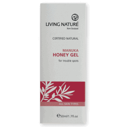 Box of Living Nature Organic Manuka Honey Gel, 50ml