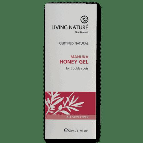 Box of Living Nature Organic Manuka Honey Gel, 50ml