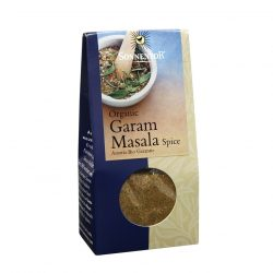 Front view of package of Sonnentor Organic Garam Masala Spice Powder