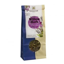 Front view of a packet of Sonnentor Small-Flowered Willow Herb Tea, 50g