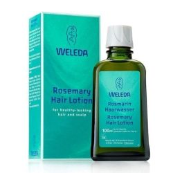 Bottle of Weleda Rosemary Hair Lotion 100ml and packaging