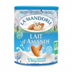 Tin of La Mandorle Organic Almond Instant Powder, 400g