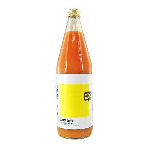 Bottle of Why Not? Carrot Juice (field-fresh), 750ml