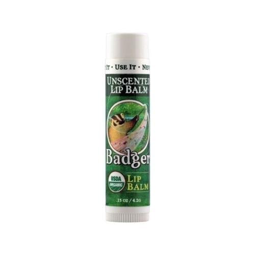 Stick of Badger Organic Lip Balm - Unscented, 0.15oz