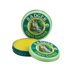 Container of Badger Organic Balm Stress Soother, 0.6oz