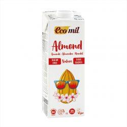 Carton of Ecomil Organic Almond Milk Sugar-free, 1L