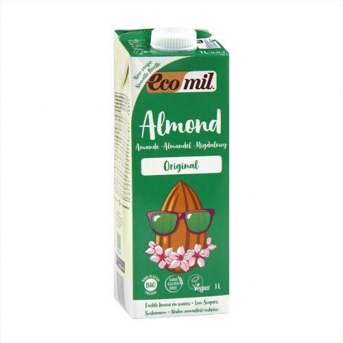 Carton of Ecomil Organic Almond Milk Agave, 1L