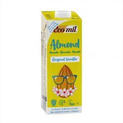 Carton of Ecomil Organic Almond Milk Agave Vanilla, 1L