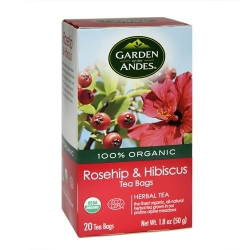 Box of Garden of The Andes Organic Rosehip & Hibiscus Tea (20 bags)
