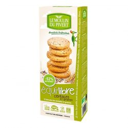 Box of Le Moulin Organic Biscuits - Cereals & Seeds 150g