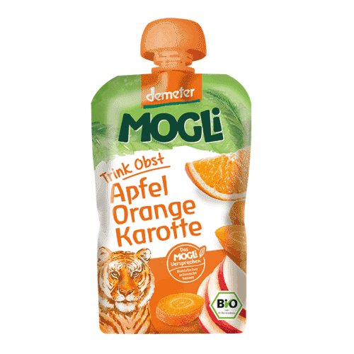 Packet of Mogli Organic Moothie - Apple, Orange & Carrot Smoothie (Demeter), 100g