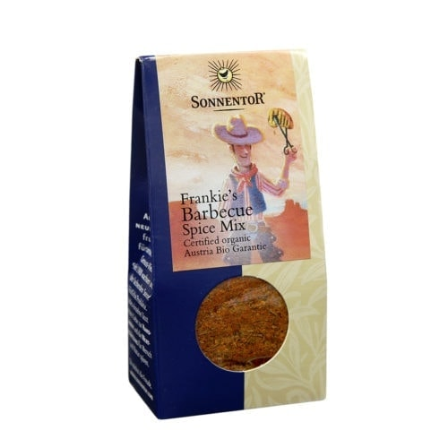 Front view of package of Sonnentor Frankie's Barbecue Spice Mix