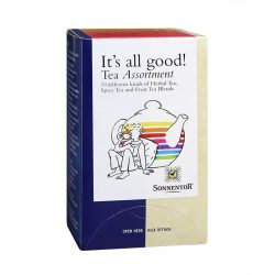 "Front view of Sonnentor Sonnentor ""It's all good!"" Tea Assortment Package"