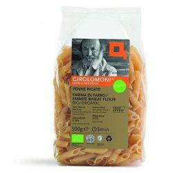 Packet of Girolomoni whole wheat penne rigate pasta