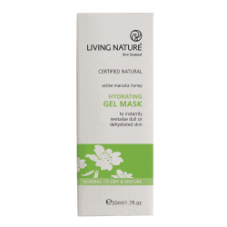 Box of Living Nature Organic Hydrating Gel Mask, 50ml