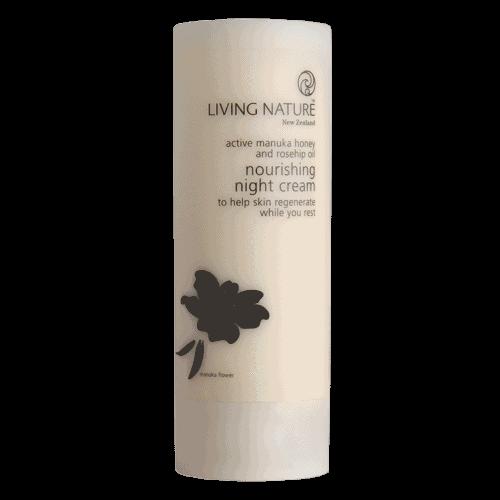 Bottle of Living Nature Organic Nourishing Night Cream, 50ml