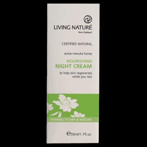 Box of Living Nature Organic Nourishing Night Cream, 50ml