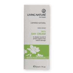 Box of Living Nature Organic Rich Day Cream, 50ml