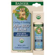 Stick and box of Badger Organic After-Bug Travel Stick Oatmeal, 0.6oz