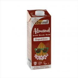 Carton of Ecomil Organic Almond Milk Agave Cocoa, 1L