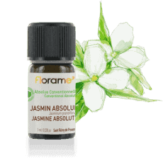 Bottle of Florame Organic Jasmine Absolute Essential Oil, 1ml