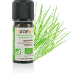 Bottle of Florame Organic Lemongrass Essential Oil, 10ml