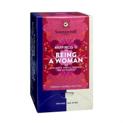 """Front View of Sonnentor """"Happiness is... Being a Woman"""" tea blend package"""