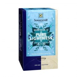 """Front view of Sonnentor """"Happiness is... Pure lightness"""" Tea Blend Package"""