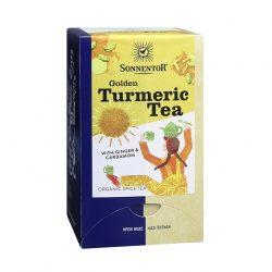 Front view of Sonnentor Organic Golden Turmeric Tea Blend Package