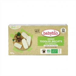 Box of Babybio Organic Hazelnut Biscuits for Toddlers, 160g