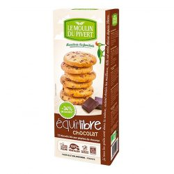 Box of Le Moulin Organic Chocolate Chip Biscuits (150g)