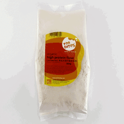 Packet of The Bites Organic Unbleached High Protein Plain Flour, 500g