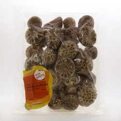 Packet of Justlife organic shiitake mushrooms