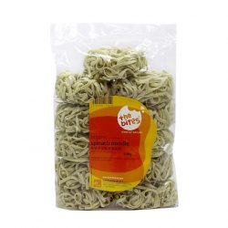 Packet of The Bites' organic spinach noodles