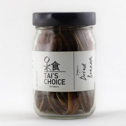 Container of Tai's Choice organic Dried Bananas