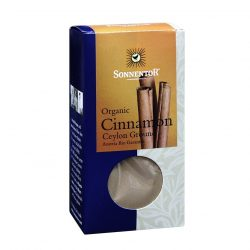 Front view of a package of Sonnentor Organic Cinnamon Ceylon Ground Powder