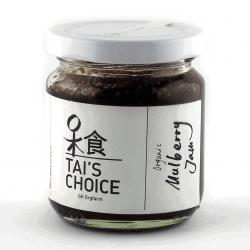 Jar of Tai's Choice Organic Mulberry Jam, 150g