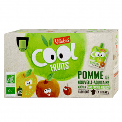 Box of Vitabio Organic Apple Cool Fruits Juice, 12x90g