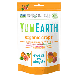 Packet of Yum Earth Organic Vitamin C - Citrus Grove Drops