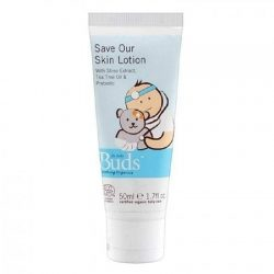 Bottle of Buds Soothing Organics - Save Our Skin Lotion (First Aid Lotion), 50ml