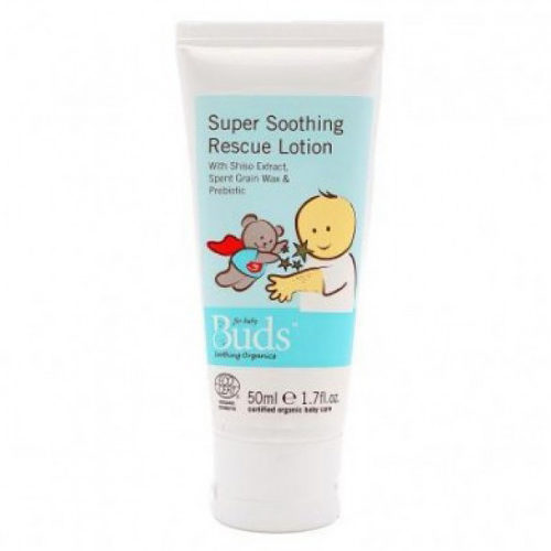 Bottle of Buds Soothing Organics - Super Soothing Rescue Lotion (50ml)