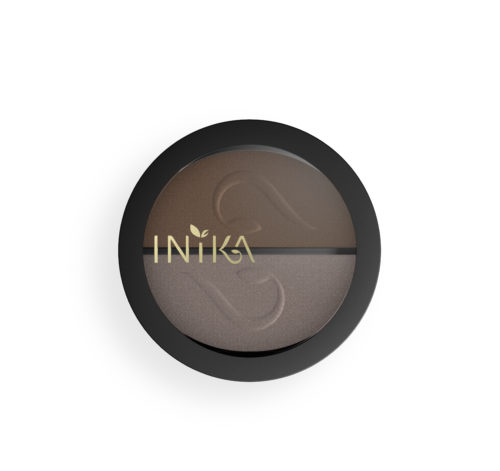Container of INIKA Pressed Mineral Eye Shadow Duo, 3.9g